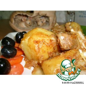 Рецепт: Тушеный картофель с капустой