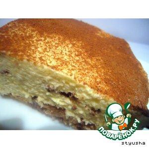 Рецепт: Сырный десерт с миндальным печеньем