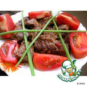 Рецепт: Мясо в кисло-сладком соусе