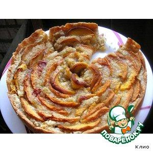 Рецепт: Миндально-персиковый пирог