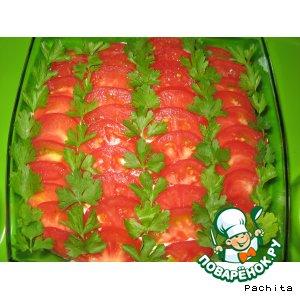 Рецепт: Салат из легкого и баклажанов