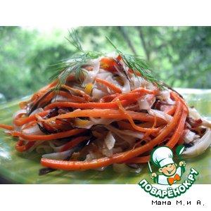 Рецепт: Фунчоза с овощами в китайском стиле