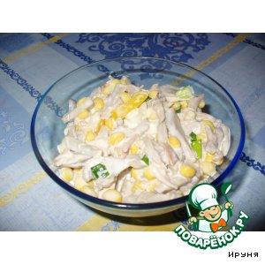 Рецепт: Салат из курицы, шампиньонов и перца