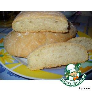Рецепт: Домашний хлеб Чиабатта