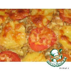 Рецепт: Картофельная лазанья
