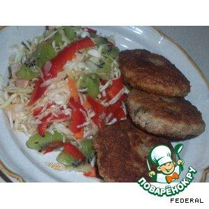 Рецепт: Салат из капусты и киви