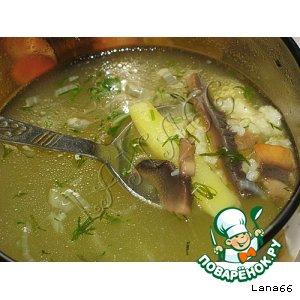 Рецепт: Постный грибной суп