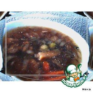 Рецепт: Суп грибной с оливками