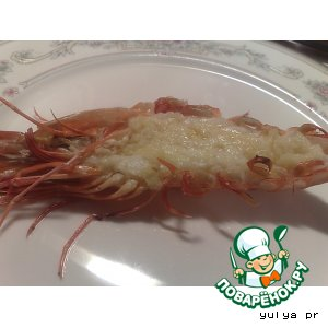 Рецепт: Запеченные креветки