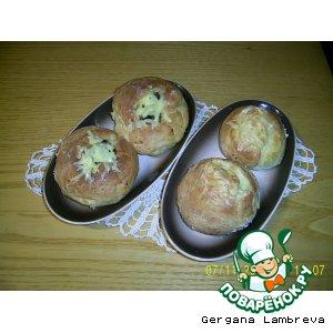 Рецепт Быстрые булочки с брынзой к завтраку