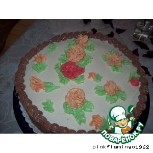 Roses of cream cake
