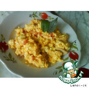 Рецепт: Яишница с помидорами