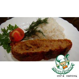 Рецепт: Мясной рулет в томатной корочке
