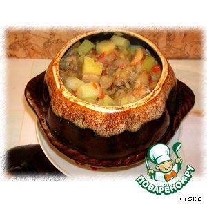 Рецепт: Картошечка в горшочке