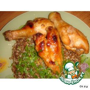Рецепт: Острая запеченая курятина в меду