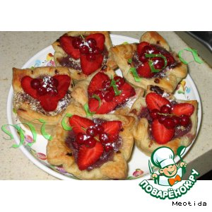 Рецепт: Корзиночки с ягодами