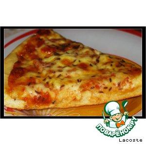 Рецепт: Пицца с двумя видами сыра и тмином