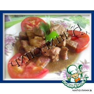 Рецепт: Свинина в винном маринаде