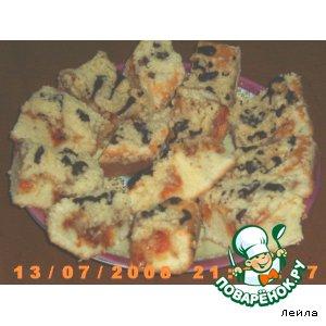 Рецепт Абрикосовые пирожные с хрустящей посыпкой