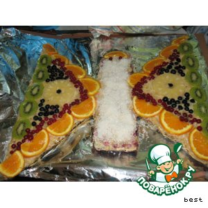 """Рецепт: Фруктовый торт  """"Бабочка"""""""