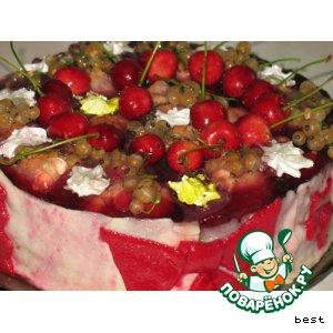 """Рецепт: Торт """"Небесная фруктовая подушка"""""""
