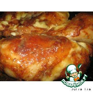 Рецепт: Куриные ножки запечeнные в остром соусе