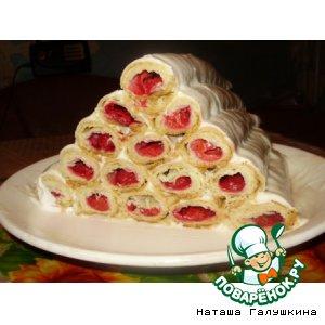 Рецепт: Торт Вишневые соты