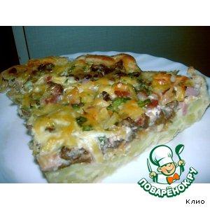 Рецепт: Картофельно-грибной пирог