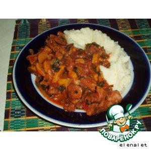 Рецепт: Свинина, жаренная с овощами