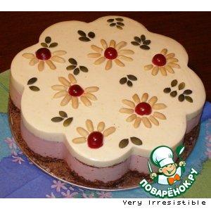 Рецепт: Цветочное настроение с вишневым вкусом