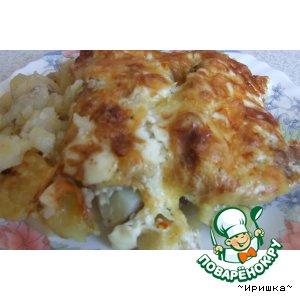 Рецепт: Картошка с мясом в духовке