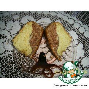 Рецепт: Двухцветный кекс