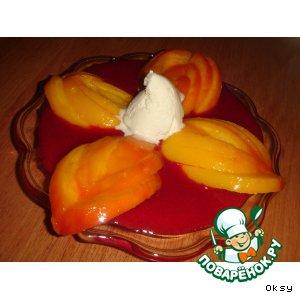 """Рецепт: Персик с соусом """"Мельба"""""""