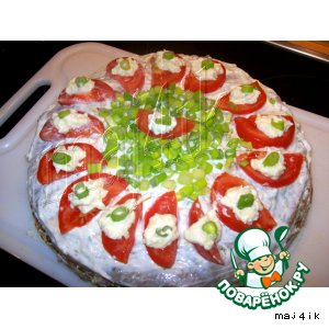 Рецепт: Печeночный торт