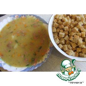 Рецепт: Гороховый суп с копченостями