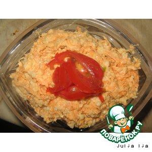 Рецепт Салат из моркови с сыром и орехами