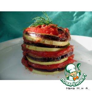 Рецепт: Запеченный рататуй по-турецки