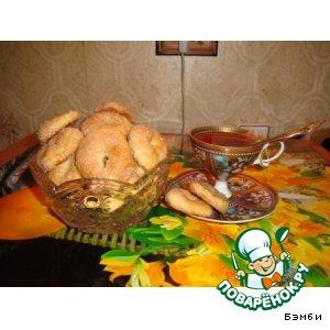 Рецепт: Печенье Колечки в сахаре