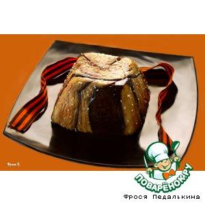 """Рецепт: Закуска из баклажанов, риса и куриной печени """"Блиндаж"""""""