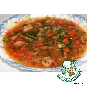 Рецепт: Суп грибной с перловкой