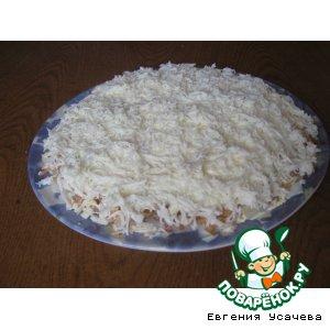 Рецепт: Салат Мимоза в снегу