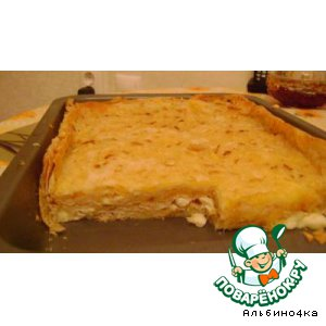 Рецепт: Сырный пирог