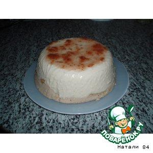 Рецепт: Творожно-банановый торт-желе