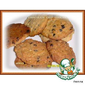 Рецепт: Печенье с шоколадными каплями