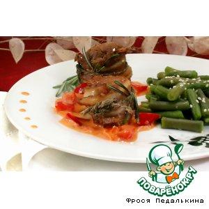 Рецепт: Медальоны из свинины с соусом из красного перца