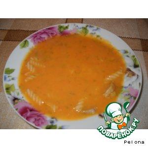 Рецепт: Суп-пюре с макаронами и говядиной
