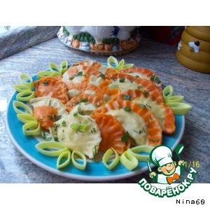 Рецепт: Вареники с картошкой и творогом