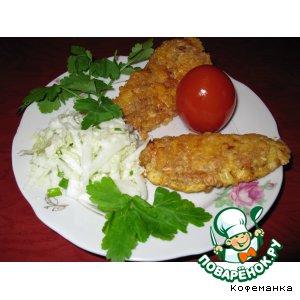 Рецепт: Куриные палочки в овсяных хлопьях и сыре