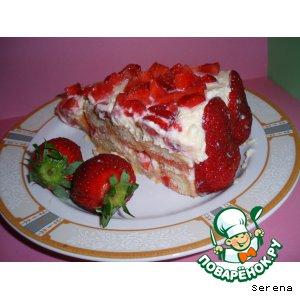 Рецепт: Клубничный торт