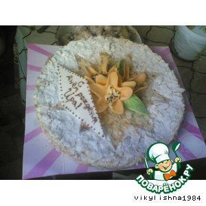 Рецепт: Украшение торта Наполеон